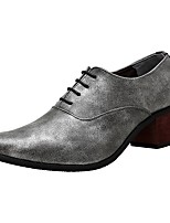 Men's Shoes Synthetic Microfiber PU Spring Fall Formal Shoes Oxfords Lace-up For Office & Career Party & Evening Burgundy Blue Gray Black