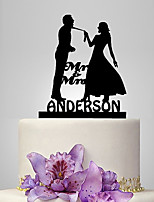 Cake Topper Classic Couple Plastic Wedding Classic Theme Wedding Poly Bag
