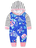 Baby Stripe Print One-Pieces,Cotton Polyester Spring/Fall Summer Long Sleeve