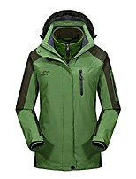 Women's Cycling Jacket Windproof Rain-Proof Wearable Breathability Outdoor 3-in-1 Jacket Winter Jacket Top Full Length Visible Zipper for