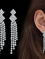 Women's Drop Earrings AAA Cubic Zirconia Fashion Elegant Cubic Zirconia Drop Jewelry For Wedding Party