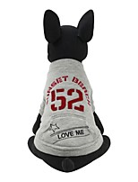 Dog Sweatshirt Dog Clothes Casual/Daily British Red Gray