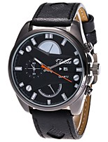 Men's Dress Watch Fashion Watch Wrist watch Chinese Quartz PU Band Casual Black Blue Red Brown