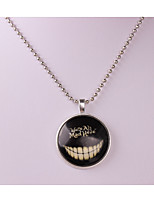 Men's Women's Pendant Necklaces Circle Alloy Hip-Hop Jewelry For Halloween Casual
