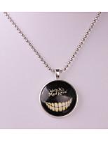 Муж. Жен. Ожерелья с подвесками Круглый Сплав Хип-хоп Бижутерия Назначение Halloween Повседневные