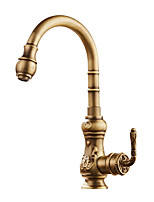 Centerset Widespread with  Ceramic Valve Antique Bronze , Kitchen faucet