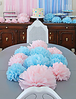 4 inch (Set of 10) - Tissue Pom Flowers DIY Wedding Decoration Beter Gifts® Party Supplies