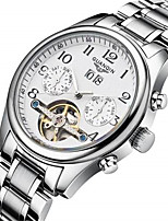 Men's Mechanical Watch Automatic self-winding Calendar Alloy Band Silver Gold