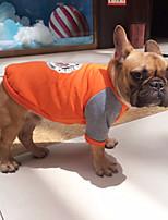 Cane Felpa Abbigliamento per cani Casual Formale Arancione Grigio