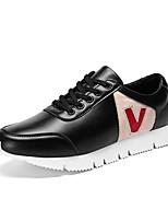 Da uomo Scarpe Pelle Di pelle PU (Poliuretano) Primavera Autunno Comoda Suole leggere Sneakers Lacci Per Casual Bianco Nero