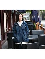 Veste en jean Femme,Couleur Pleine Sortie Décontracté / Quotidien simple Printemps Automne Manches longues Capuche Longue Autres