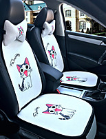 Naughty kitten Car Seat Cushion Seat Cover Seat Four Seasons General Surrounded By A Five Seat Headrest With 2 Wheel Sets
