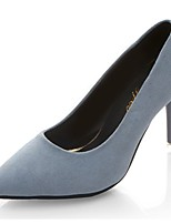 Women's Shoes PU Fleece Fall Basic Pump Heels Stiletto Heel Pointed Toe For Casual Office & Career Blue Black