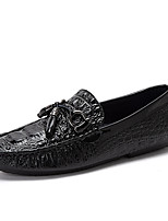 Men's Shoes Real Leather Fall Winter Driving Shoes Loafers & Slip-Ons Buckle For Casual Party & Evening Blue Black White