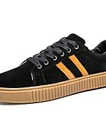Для мужчин обувь Замша Осень Зима Удобная обувь Кеды Шнуровка Назначение Атлетический Повседневные Черный Серый Желтый