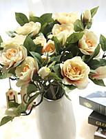 gardenia camellia simulazione fiore fiori artificiali nozze decorazione domestica 5 ramo