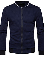Men's Going out Casual/Daily Simple Street chic Sweatshirt Solid V Neck Micro-elastic Cotton Long Sleeve Fall Winter