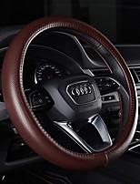 cheap -Steering Wheel Covers Genuine Leather 38cm Beige Gray Purple Coffee Black/RedforAudi