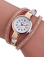 Per donna Orologio alla moda Orologio braccialetto Creativo unico orologio Cinese Quarzo PU Banda Ciondolo Casual classe Nero Bianco Blu