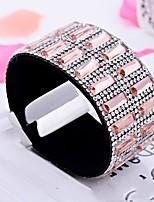 Femme Bracelet Mode énorme Strass Forme de Ligne Bijoux Pour Mariage Décontracté