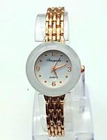 Жен. Модные часы Часы-браслет Повседневные часы Кварцевый Позолоченное розовым золотом сплав Группа Блестящие Розовое золото