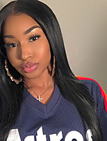 Women Human Hair Lace Wig Brazilian Human Hair Lace Front 180% 150% 130% Density Straight Wig Dark Black Short Medium Length Long