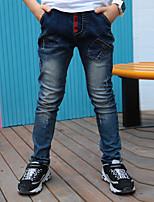 Jungen Jeans Bestickt Herbst Ganzjährig