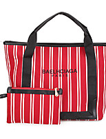 Women Bags All Seasons Canvas Bag Set Pattern / Print for Event/Party Casual Black Red