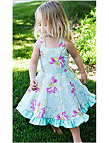 Girl's Birthday Casual/Daily Holiday Floral Dress,Cotton Summer Sleeveless