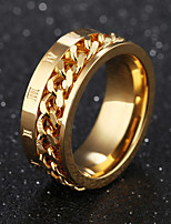 Men's Band Rings Fashion Vintage Titanium Steel Circle Jewelry For Wedding Party