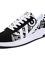 Men's Shoes Rubber Spring Fall Comfort Sneakers Lace-up For Outdoor Orange/Black Black/White Black White