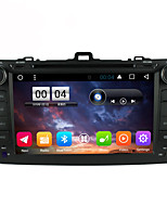 2 Din Capacitive touch LCD Car DVD Player android 6.0 For Toyota corolla 2006-2013