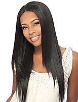 Women Human Hair Lace Wig Brazilian Human Hair Full Lace 130% Density Straight Wig Medium Brown Dark Brown Black Medium Length