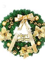 1pcs couronne de noel avec porte d'arc goutte ornements décor de décor de couronne 40cm