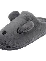 Men's Shoes Velvet Winter Fur Lining Fluff Lining Comfort Slippers & Flip-Flops Pom-pom For Casual Khaki Gray