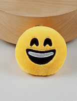 New Arrival Cute Emoji Happy Face Key Chain Plush Toy Gift Bag Pendant