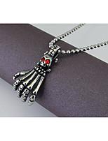 Per uomo Per donna Ciondoli L'imitazione di Ruby A forma di teschio Lega Personalizzato Gotico Gioielli Per Feste Halloween