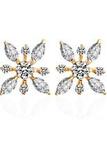 Femme Boucles d'oreille goujon Boucles d'oreille gitane Clips Zircon cubique Géométrique Zircon Forme Géométrique Bijoux Pour Mariage