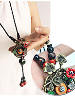 Women's Pendant Necklaces Flower Alloy Fashion Personalized Jewelry For Gift Daily
