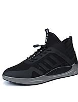 Da uomo Scarpe Tessuto Estate Autunno Comoda Suole leggere Sneakers Elastico Per Casual Nero Nero/Rosso