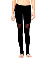 Women's Medium Stitching Lace Solid Color Legging,Solid