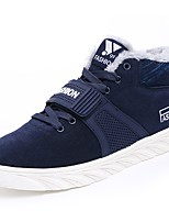 Men's Shoes Suede Fall Winter Comfort Sneakers Lace-up For Casual Outdoor Blue Gray Black