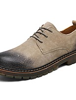 Men's Shoes Pigskin Spring Fall Comfort Oxfords Lace-up For Casual Khaki Brown Black