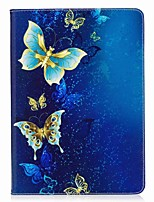 cheap -For iPad 10.5 Case Cover Card Holder Wallet with Stand Flip Pattern Magnetic Full Body Case Butterfly Hard PU Leather for Apple iPad pro