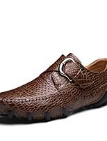 Homme Chaussures Vrai cuir Automne Hiver Chaussures de plongée Mocassins et Chaussons+D6148 Pour Décontracté Noir Brun Foncé