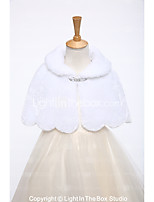Kids' Wraps Capelets Faux Fur Wedding Party/ Evening Rhinestone