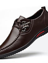 Men's Shoes Leatherette Fall Winter Formal Shoes Oxfords Rivet For Office & Career Party & Evening Blue Brown Black