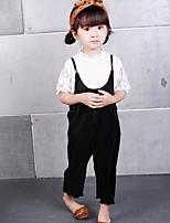 Girls' Others Solid Sets,Cotton Spring Summer Clothing Set
