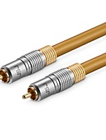 cheap -JSJ 1RCA Connect Cable, 1RCA to 1RCA Connect Cable Male - Male Gold-plated copper 8.0m(26Ft)