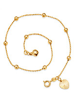 Women's Anklet/Bracelet Gold Plated Adjustable Simple Style Circle Round Jewelry For Beach Going out